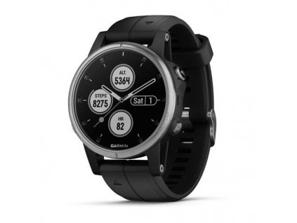 Garmin fenix5S Plus Silver Optic, Black Band