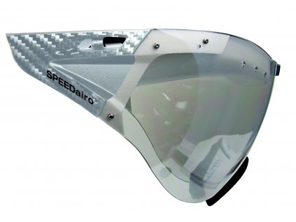 Visor CASCO SPEEDmask Carbonic clear silver mirror