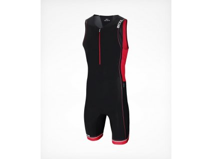 Men s CORE Tri Suit Black Red Front 45 900x