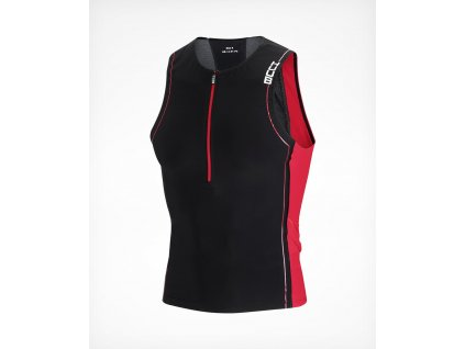 Men s CORE Tri Top Black Red Front 45 900x