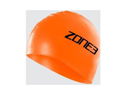 Silicone Swim Cap - 48g - HI-VIS ORANGE - OS