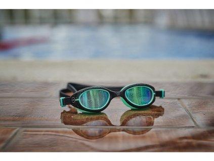 Kids Aquahero Goggles - BLUE/YELLOW - OS