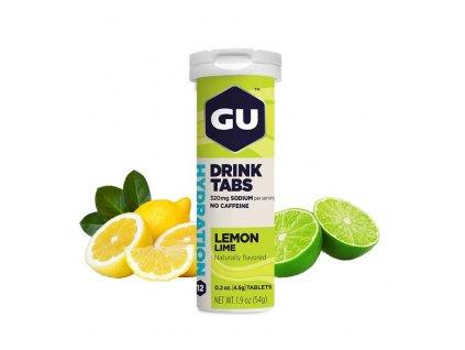 GU Hydration Drink Tabs 54 g Lemon/Lime 1 tuba (balení 8ks)