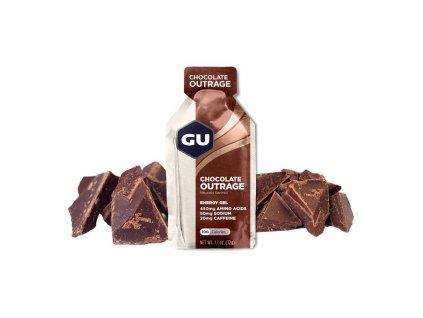 GU Energy Gel 32 g Chocolate Outrage 1 SÁČEK