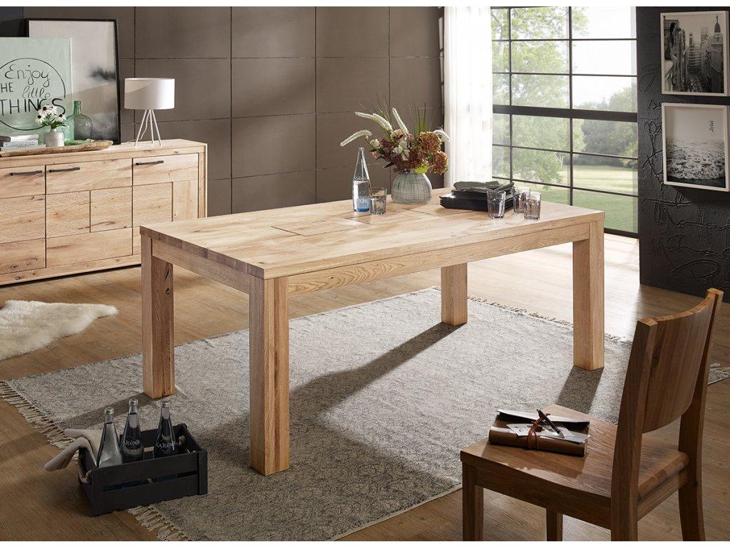 Dubový stůl přírodní 90x180