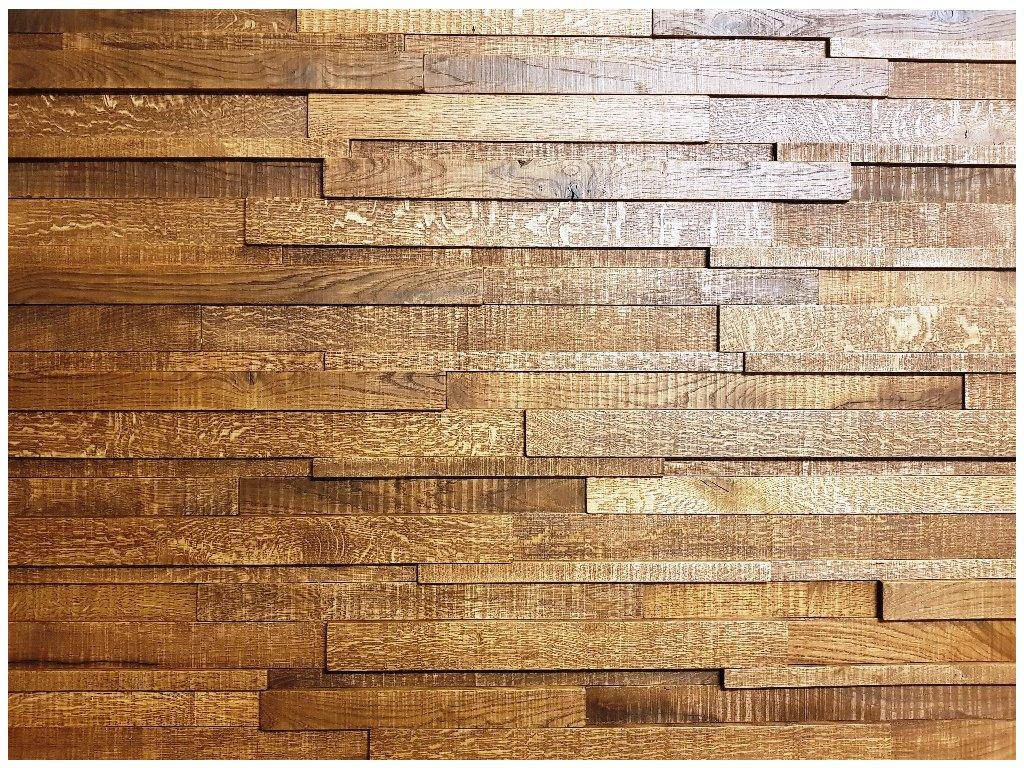 Obklad dřevěný masiv dub katrovaný