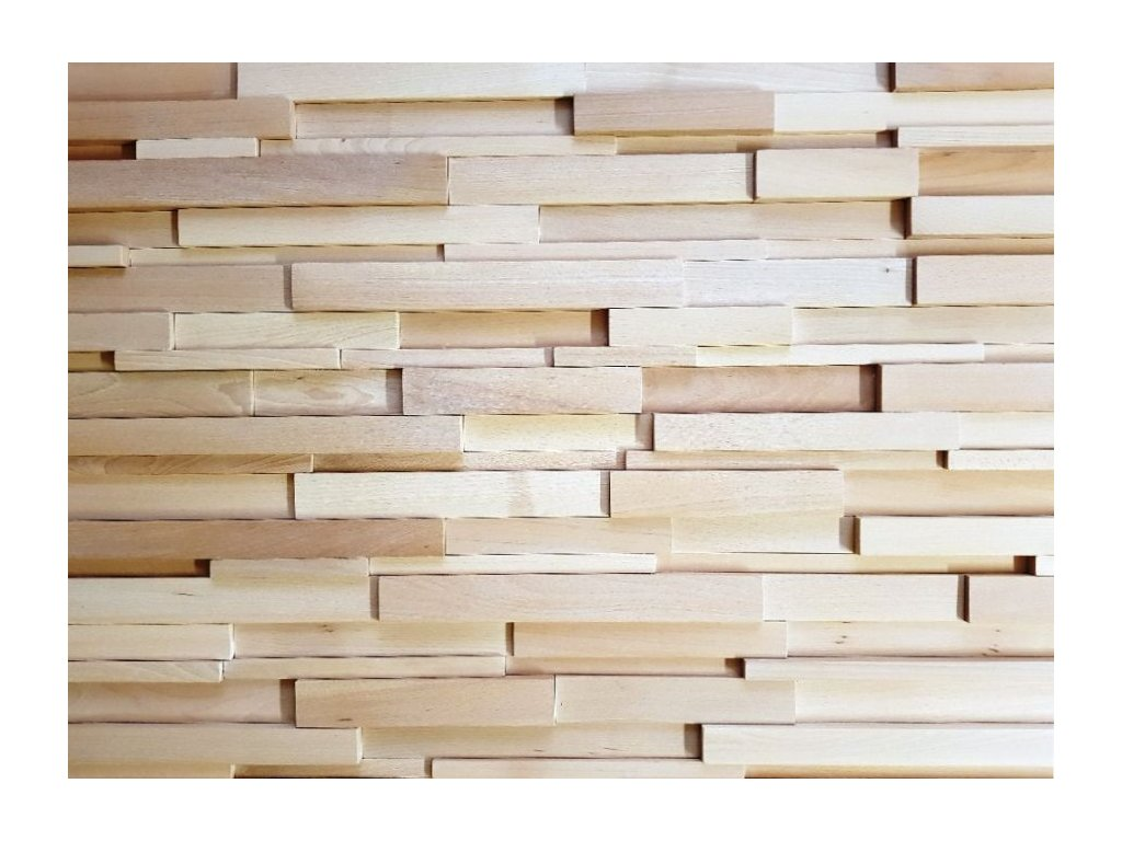 Dřevěný obklad masivní hoblovaný buk