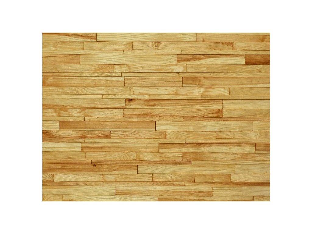 Dřevěný obklad jasan štípaný