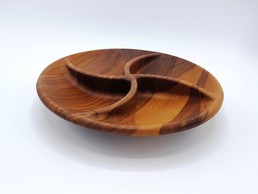 Miska dřevěná hvězda - ořech