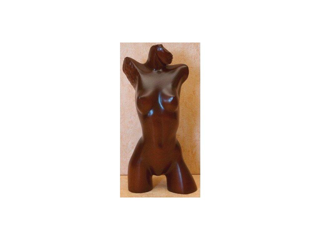 Socha ženské torzo dřevěná