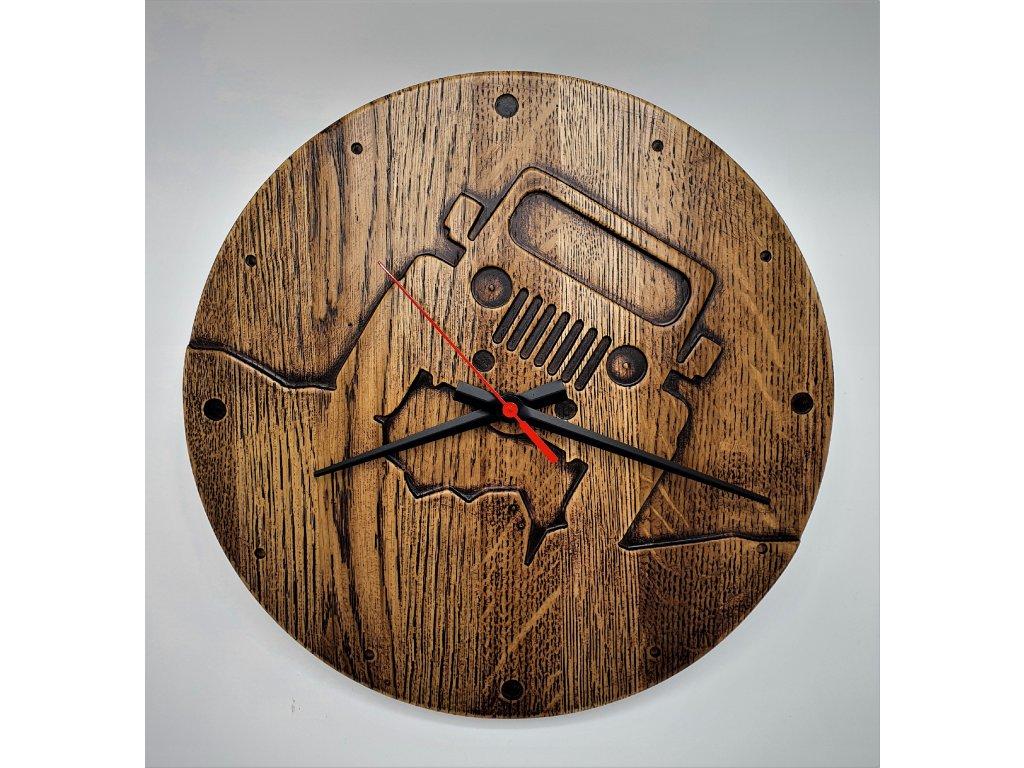 Hodiny nástěnné jepp dřevo