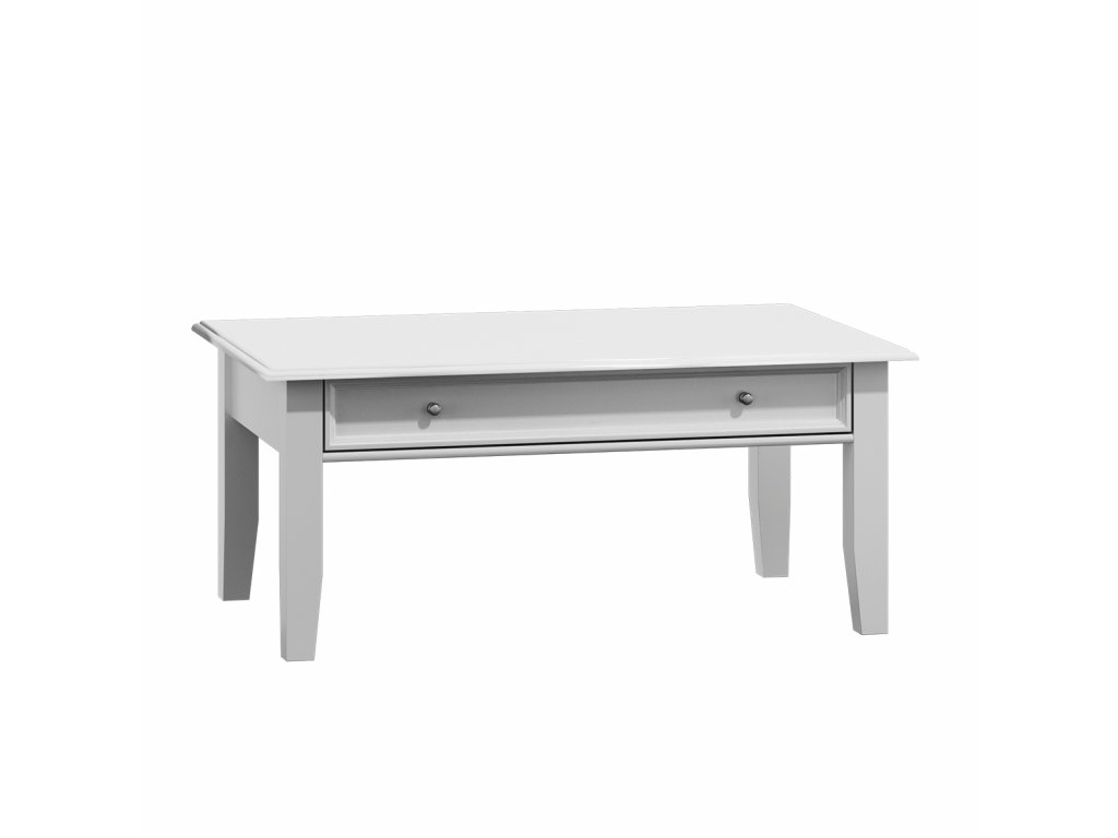 Belluno Elegante bílý konferenční stolek zásuvka