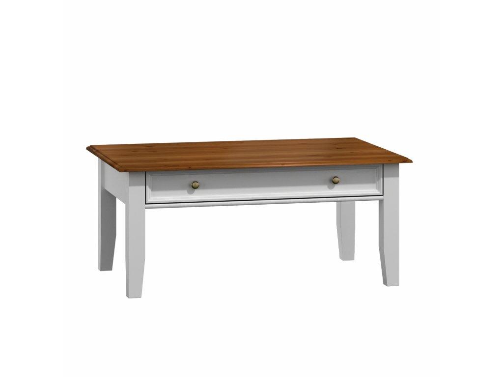 Belluno Elegante stolek konferenční bílá/ořech