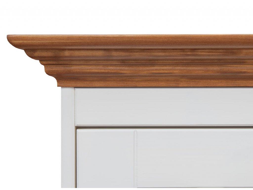 Belluno Elegante noční stolek bílá med