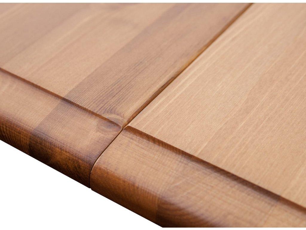 Belluno Elegante jídelní stůl masiv rozkládací bílá med