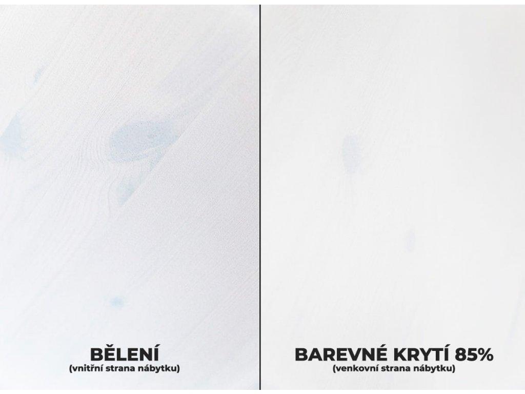 Belluno Elegante malý stolek bílá-medová