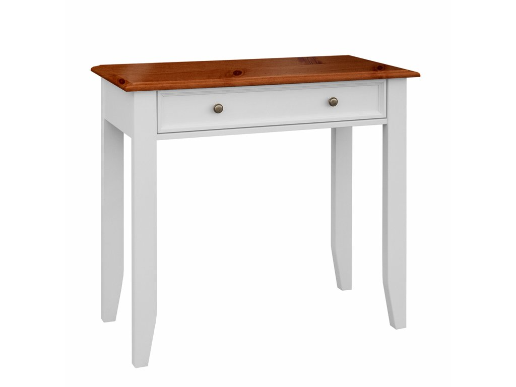 Toaletní stolek Belluno Elegante, bílá, medový dub, masiv, rozměr 85x93x45cm