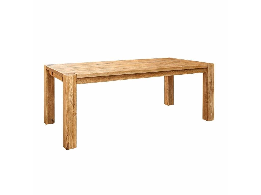 Jídelní dubový stůl obdélník rozložitelný 90x160