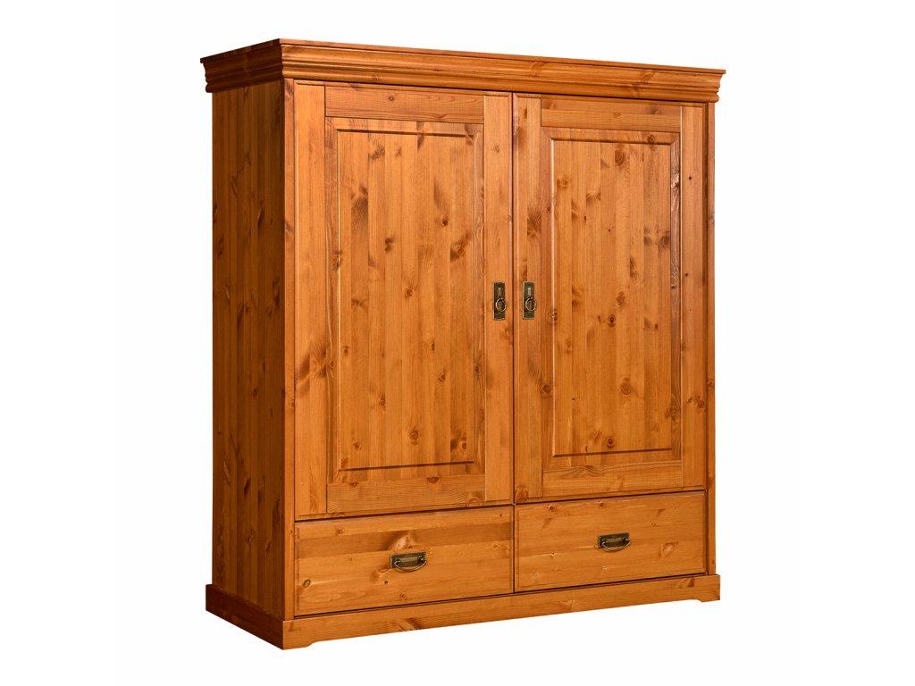 Prádelník z přírodního dřeva medoý