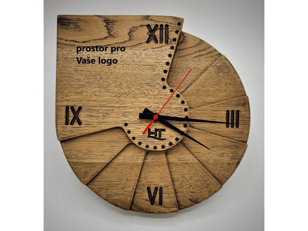 Hodiny nástěnné dřevo možnost vlastního loga