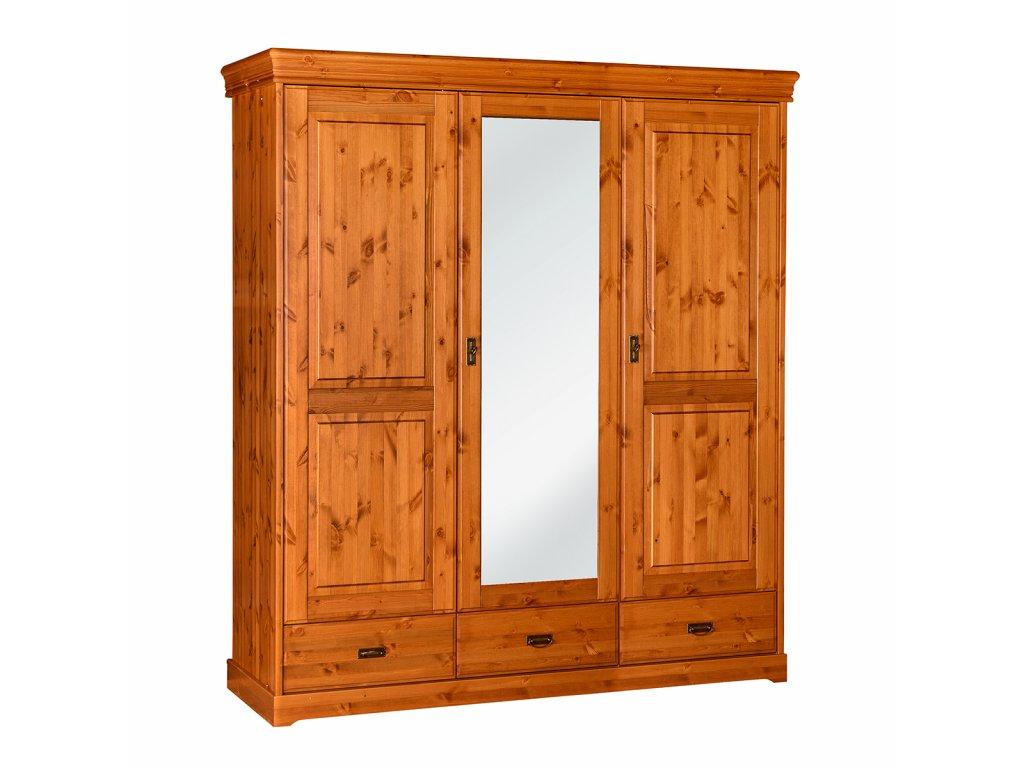 Šatní skříň velká dřevěná zrcadlo