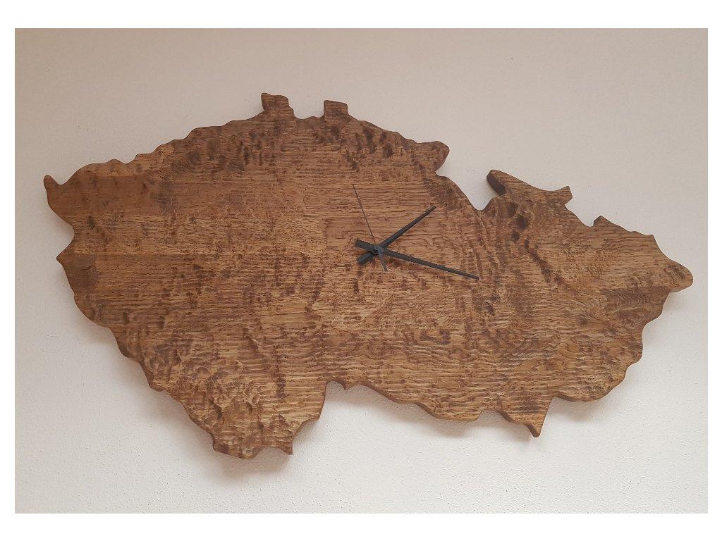 Nástěnné dřevěné hodiny republika