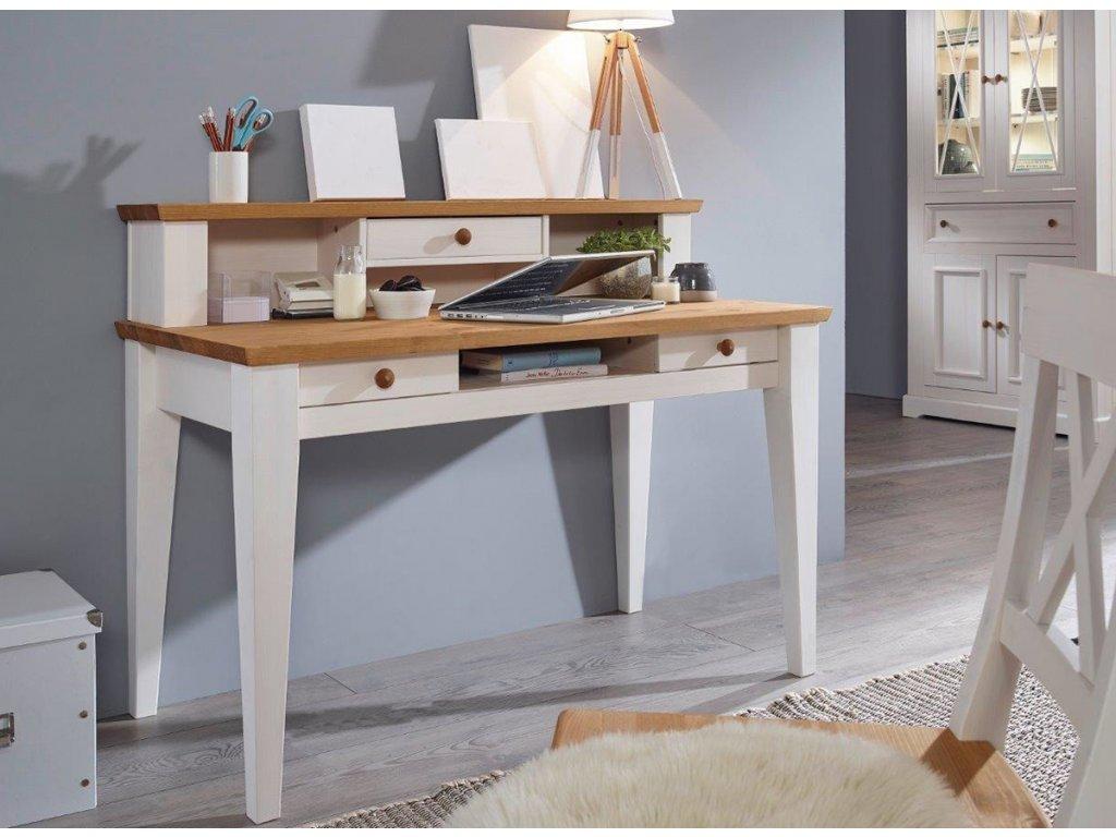 Rustikální psací stůl dřevo