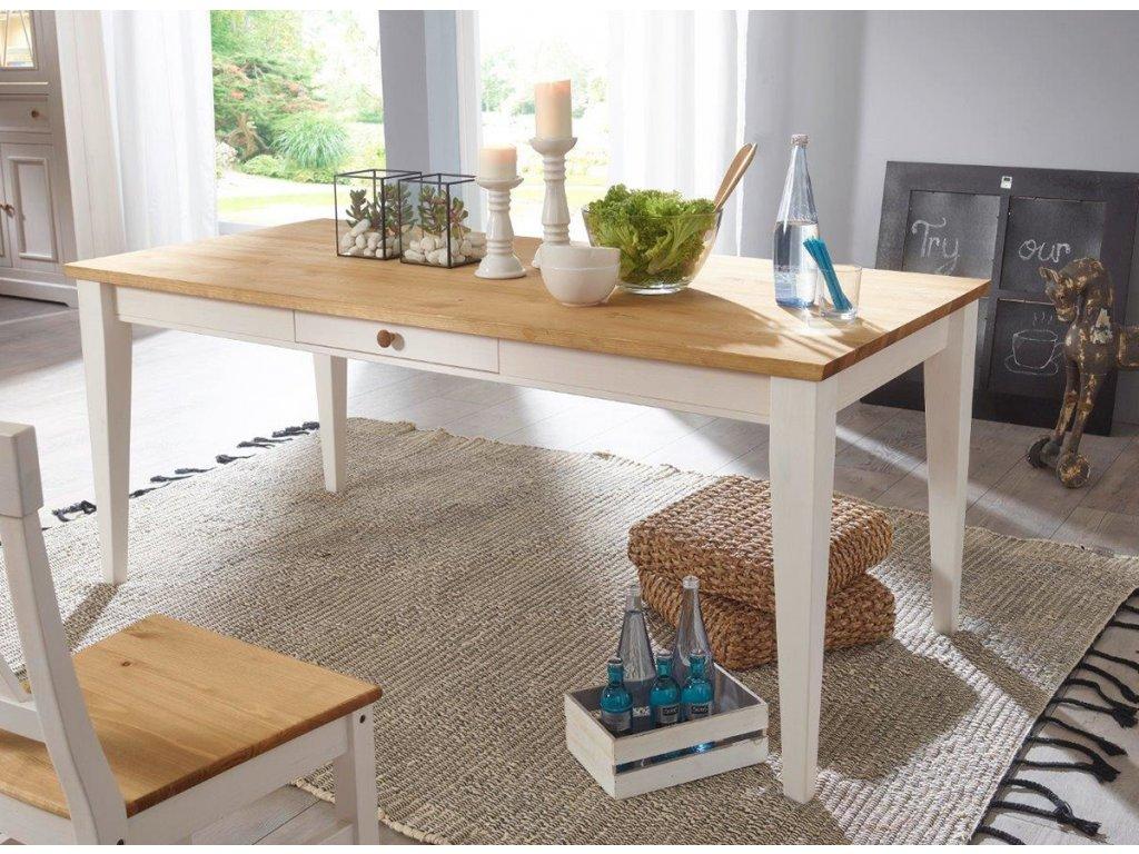 Stůl Marone s dřěvěnou deskou
