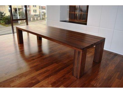 Velký dřevěný stůl ořechový 100x280