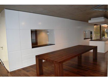 Velký dřevěný stůl ořechový 110x340