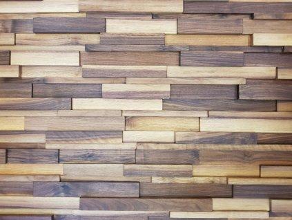 Dřevěný obklad masivní hoblovaný ořech