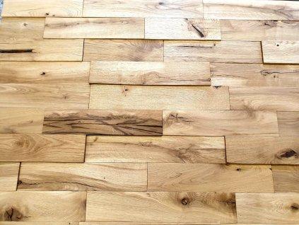 dřevěný obklad  na stěnu dub hoblovaný