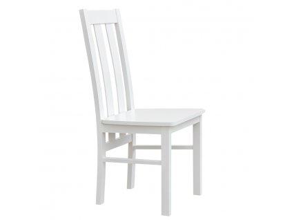 Belluno Elegante dřevěná židle bílá