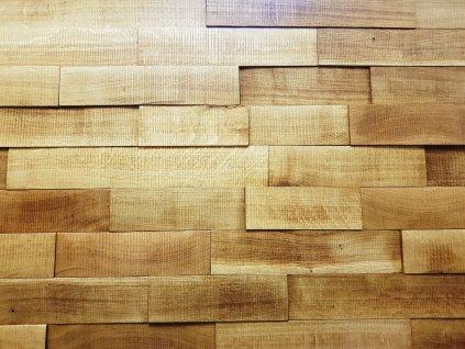 Obklad dřevěný katrovaný masiv dub bez suku