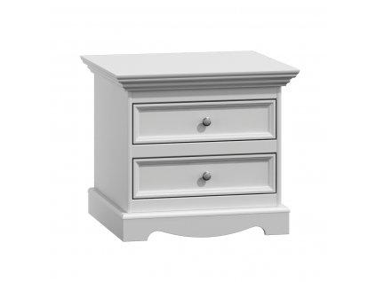 Belluno Elegante noční stolek bílý