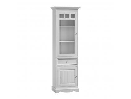 Borovicová vitrína bílá