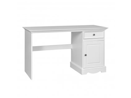 Psací stůl jednoduchý stylový bílý