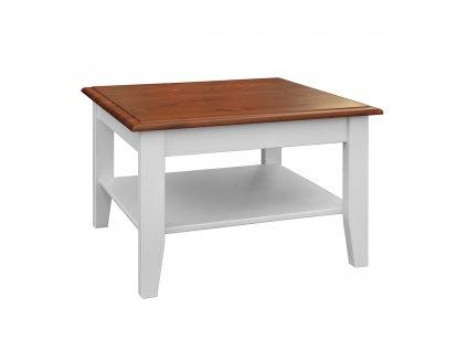 Belluno Elegante malý stolek bílá ořech