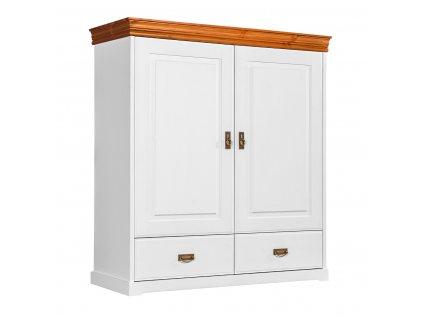 Toskania prádelníková skříň bílá med