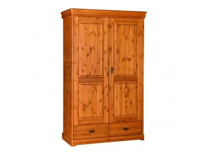Dřevěná skříň zásuvka jednoduchá klasika
