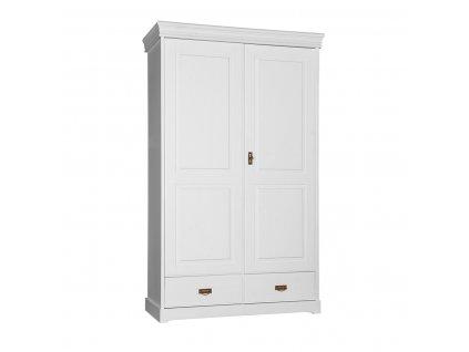 Dřevěná skříň zásuvka jednoduchá bílá