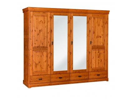 Toskania velká skříň 4D se zrcadlem