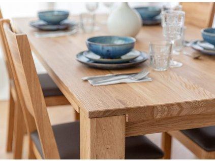Jídelní stůl Gaia dubový rozkládací 90x180