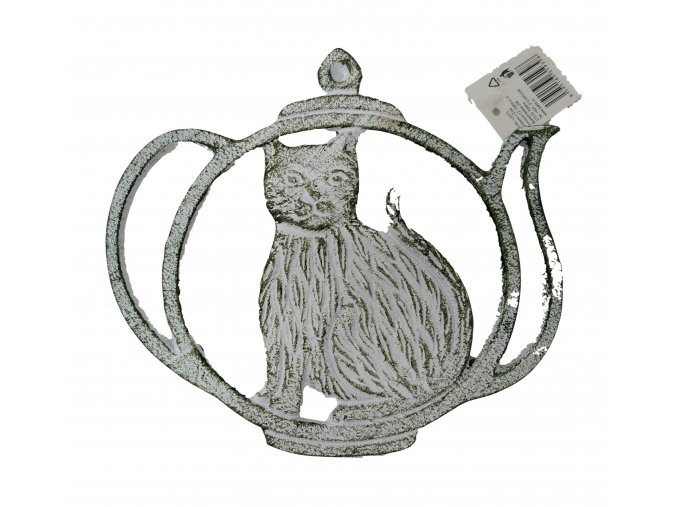 Litinová podložka pod hrnec Kočka v konvici