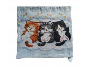 povlak na polštář tři kočky