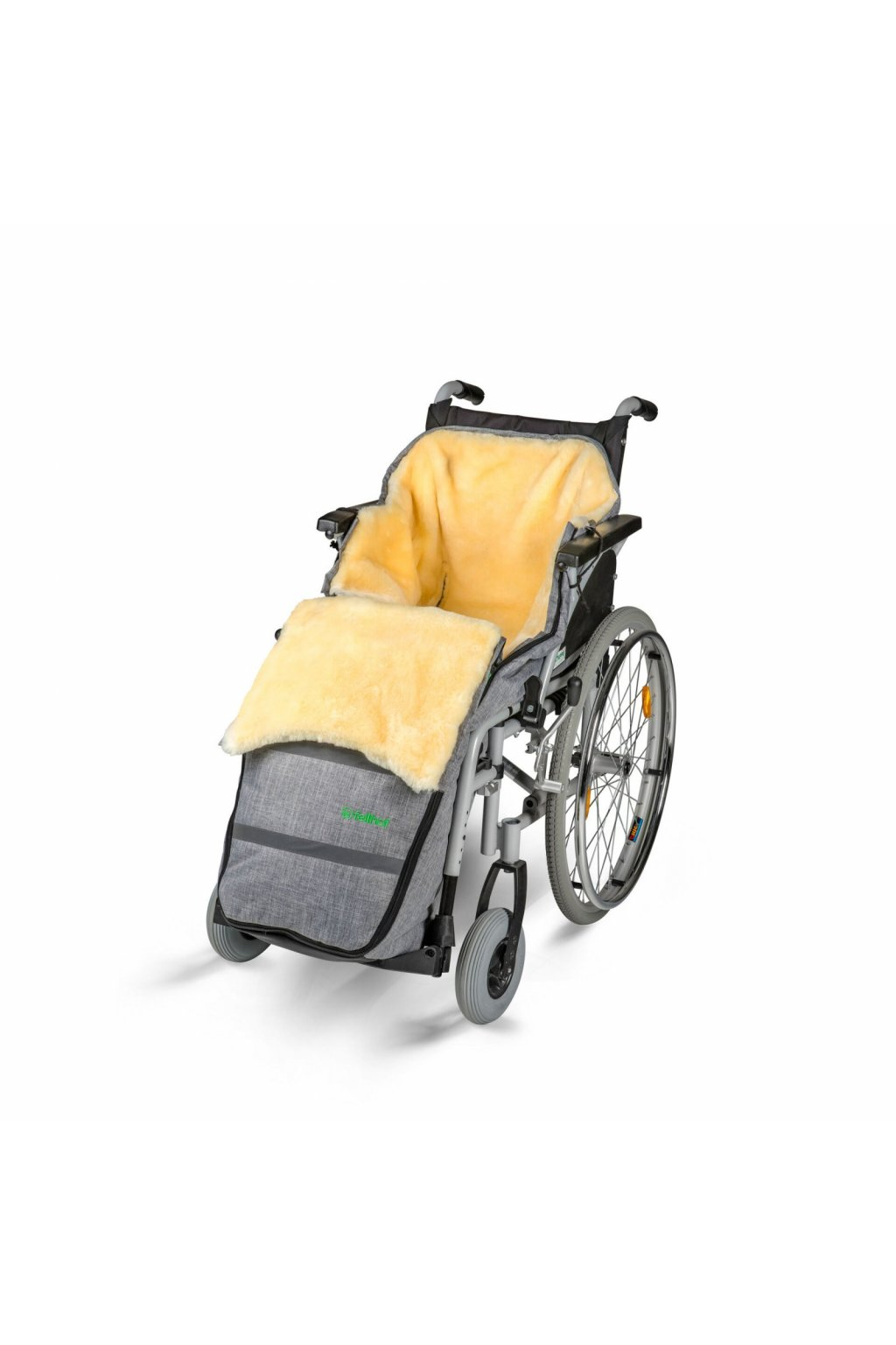 Rollstuhl Schlüpfsack mit Lammfell black melange 0