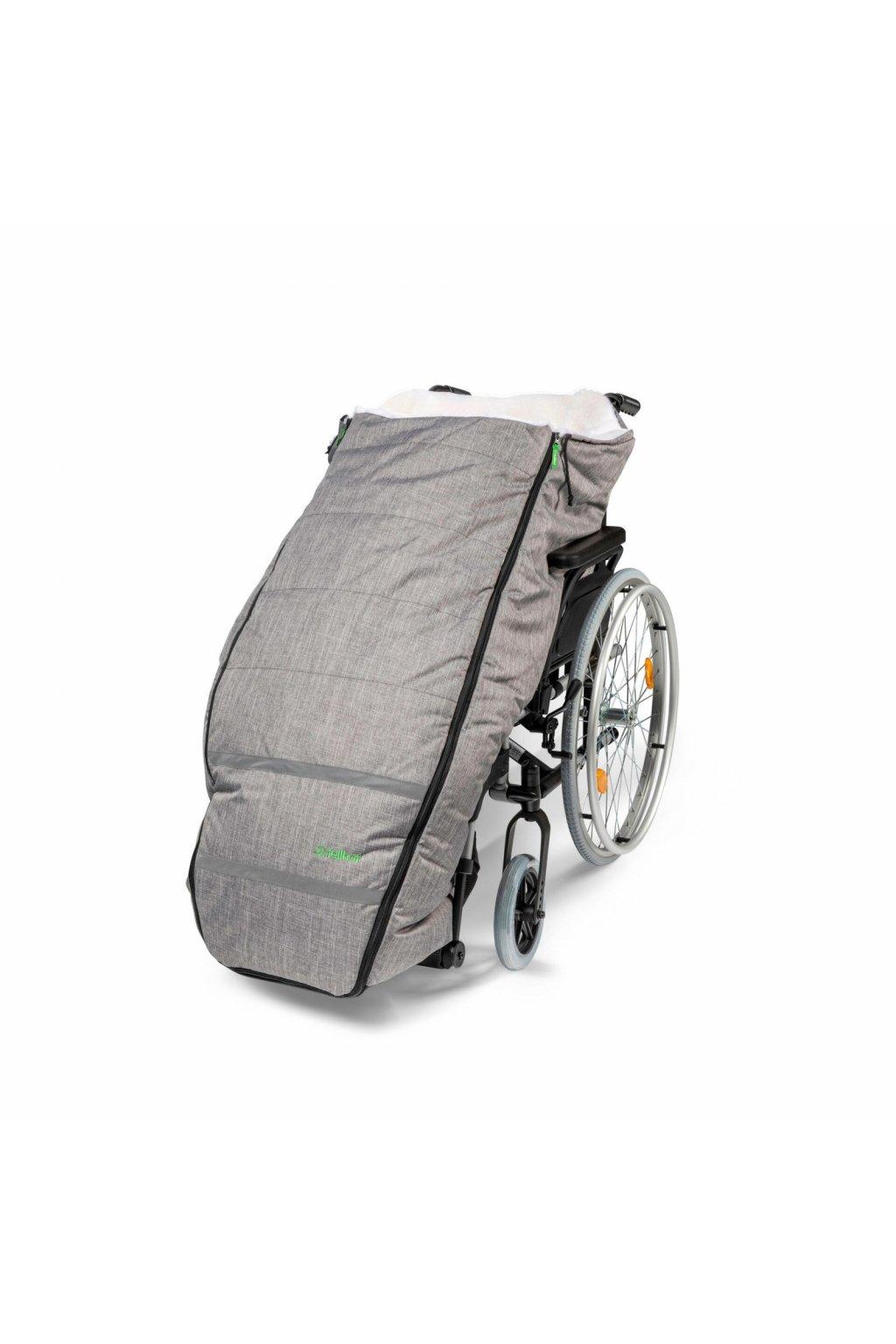 Rollstuhl Schlüpfsack mit Lammfell black melange 5