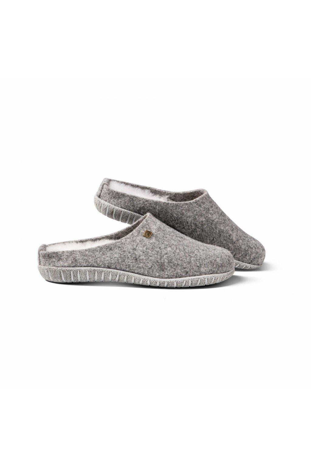 pantoffel modena filz damen grau melange 3541 sy3htz89co9yub