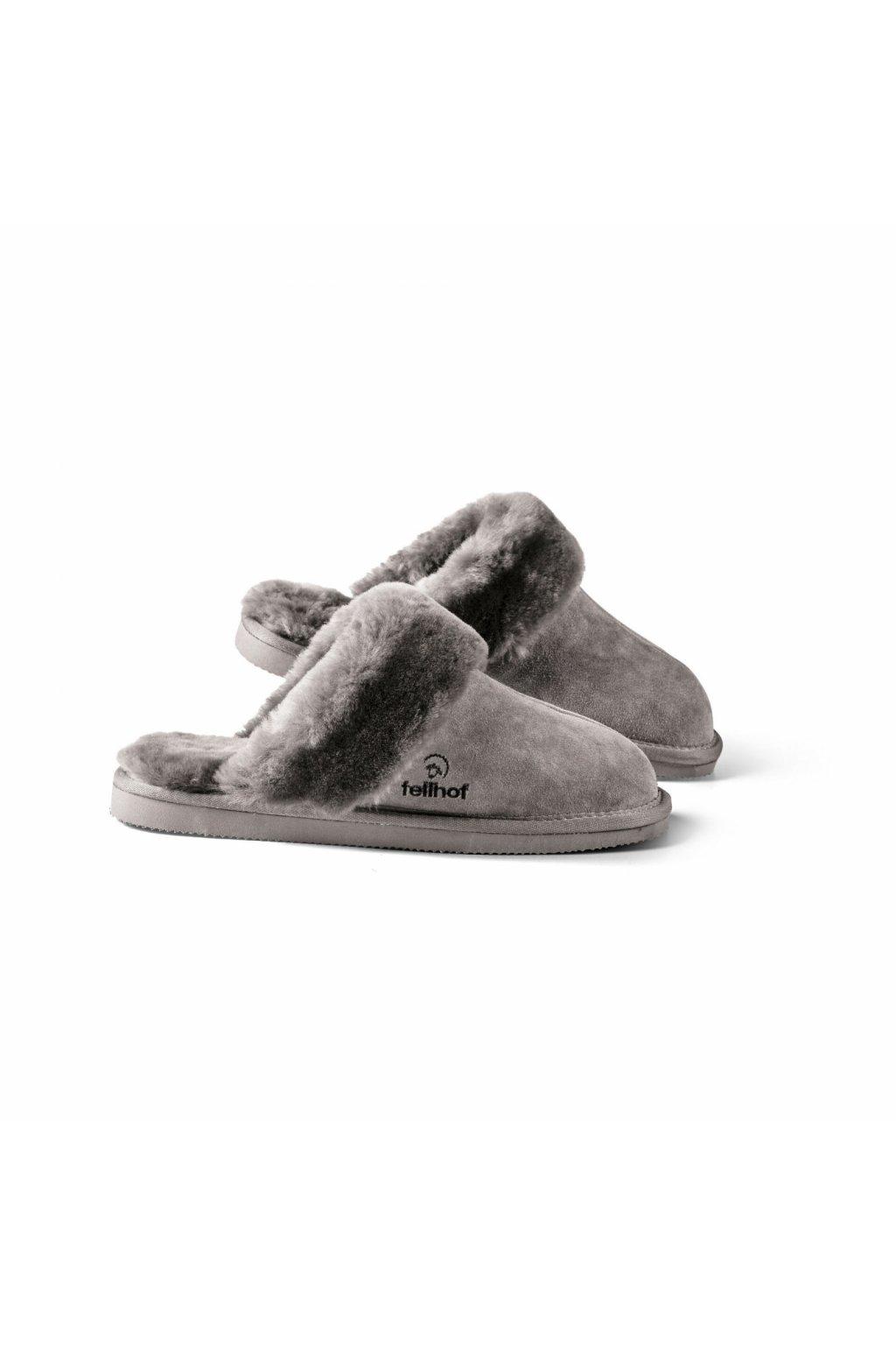 Pantoffel Komfort Damen grau 0