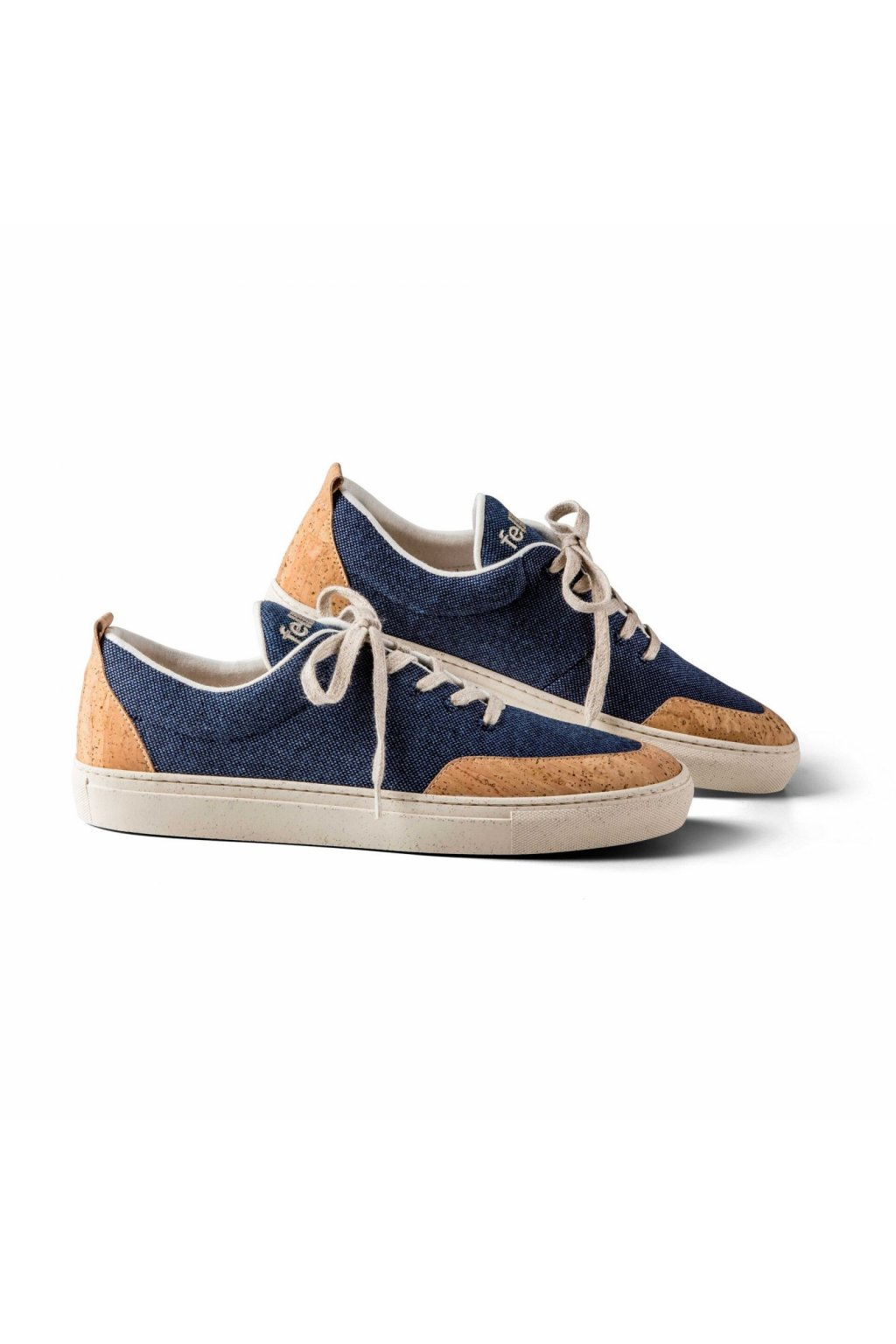 Sneaker Havanna Herrenschuhe mit Korksohle blau 0